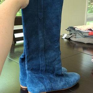Blue Vero Cuoio boots